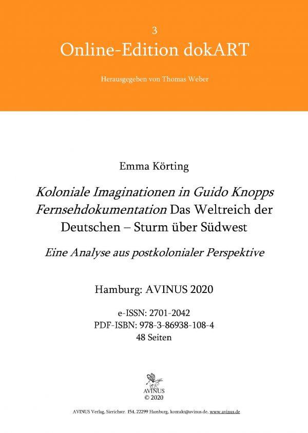 Buchcover Koloniale Imaginationen